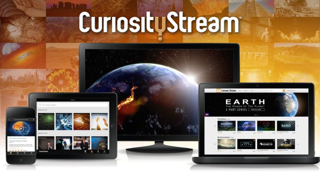 Curiosity Stream, a streaming service that's committed to educational, informative content that enlightens as it entertains.