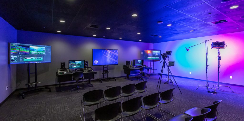 Picture of a new classroom studio within a learning space