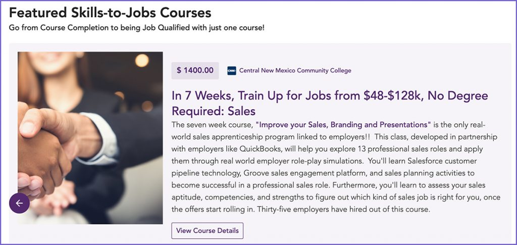 Skills to jobs courses from Unmudl