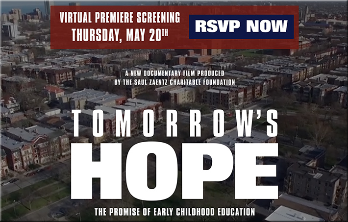 A virtual premiere screening for Tomorrow's Hope: The Promise of Early Childhood Education
