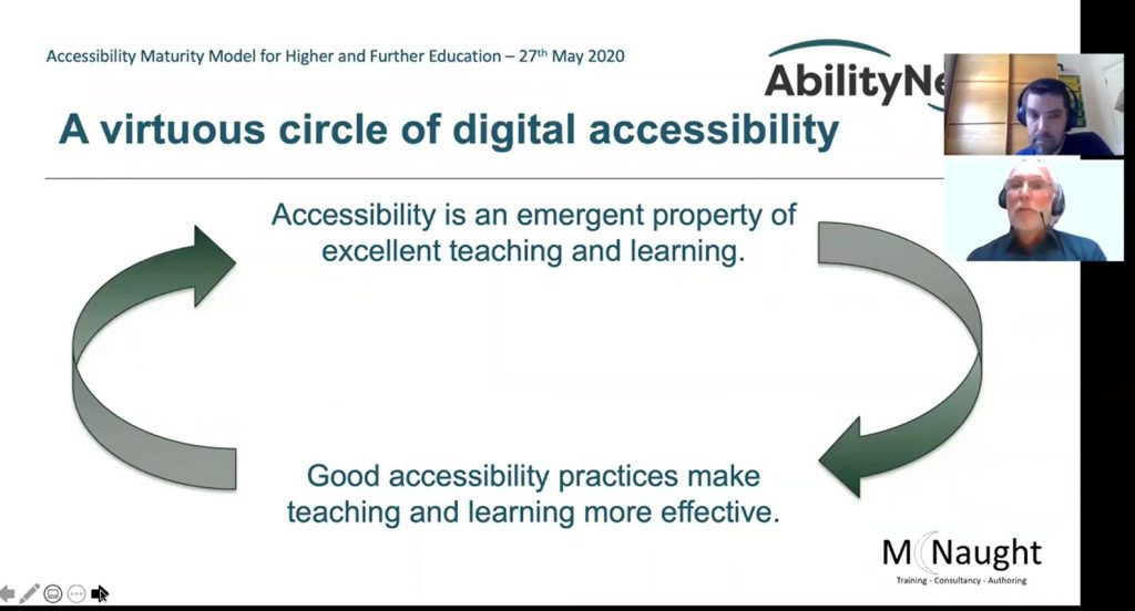 A virtuous circle of digital accessibility -- positively impacts teaching and learning