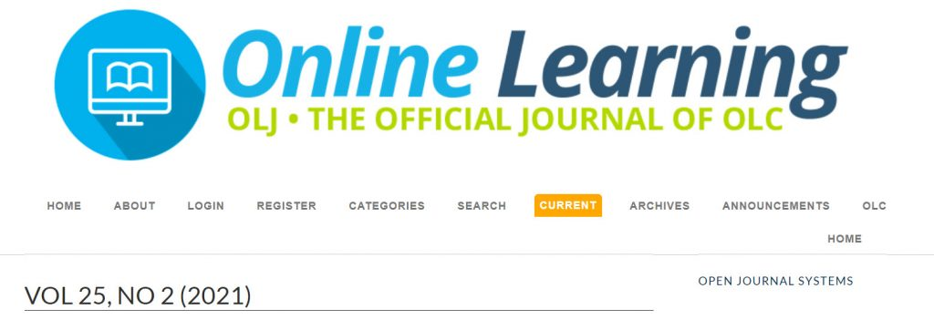 Online Learning -- OLJ -- The official journal of the Online Learning Consortium