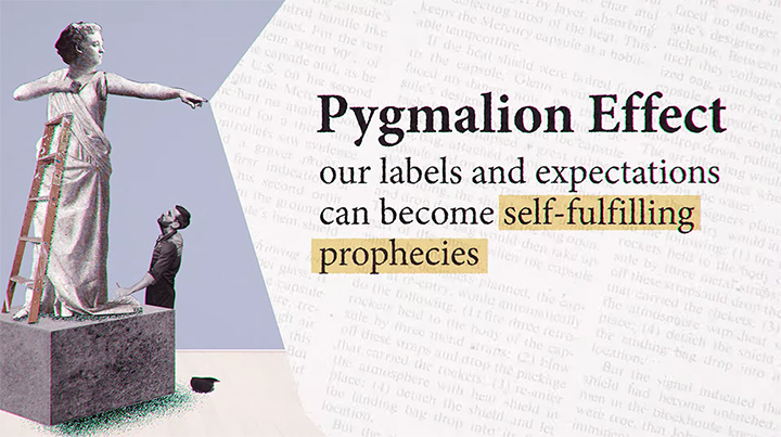 The Pygmalion Effect -- our labels and expectations can become self-fulfilling prophecies