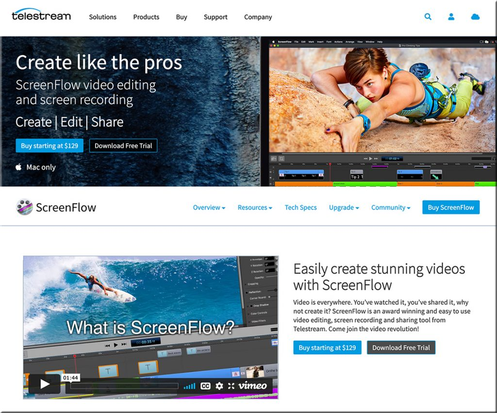 ScreenFlow video editing and screen recording