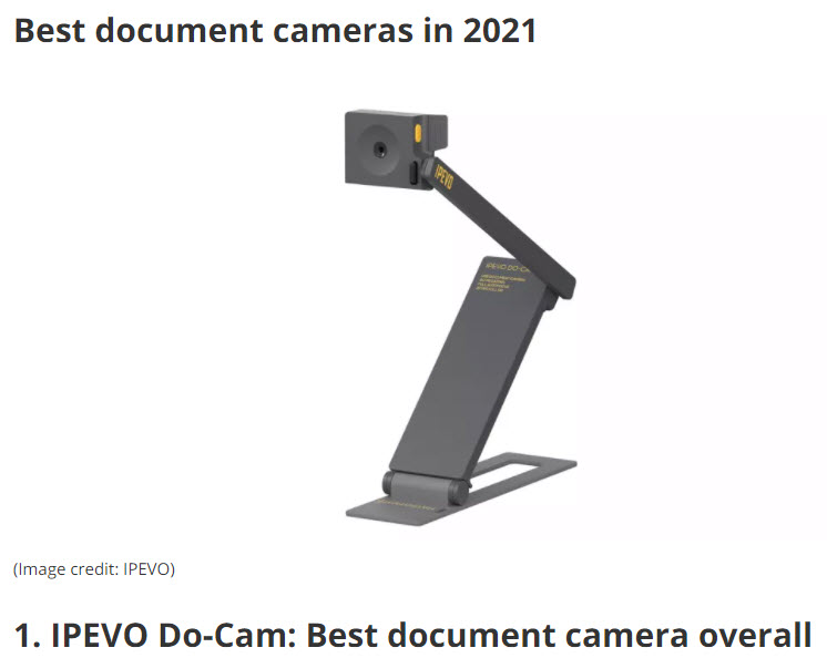 IPEVO Do-Cam: Best document camera overall
