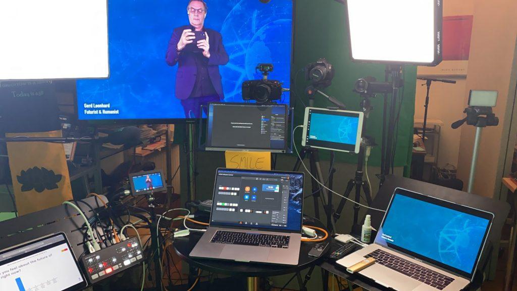 Gerd Leonhard's studio where he makes what he calls Keynote Television