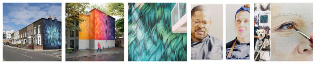 Adele Renault's Beautiful Murals-- from fubiz.net