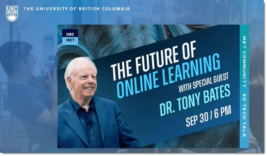 The future of online learning with Dr. Tony Bates