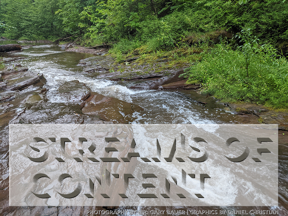 streams of content are ever flowing by -- we need to tap into them and contribute to them