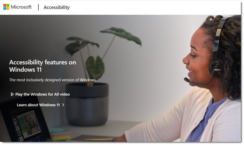 Accessibility features of Windows 11